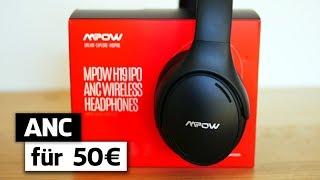 Mpow ANC Bluetooth Kopfhörer (Deutsch): Bestes Active Noise Cancelling für 50 Euro!