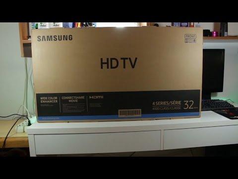 unboxing Samsung UE32J4000 32