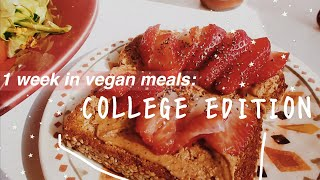 what I eat in a week as a vegan in college 🥑🥬🍓✨