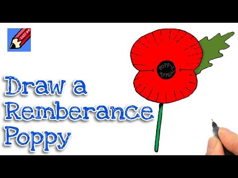 How to draw a poppy real easy shoo rayner author how to draw a remembrance poppy real easy step by step mightylinksfo