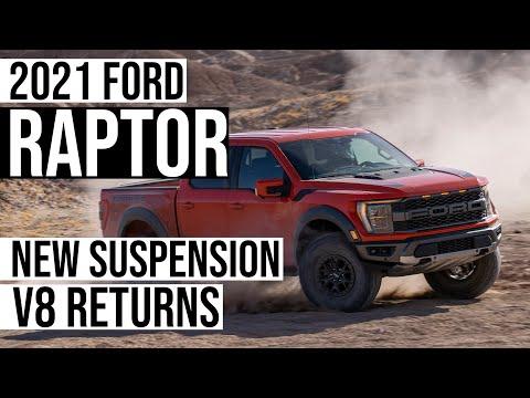 Ford Unveils New 2021 F-150 Raptor: New Suspension + V8 Returns!