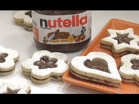 Nutellaplätzchen backen Spitzbuben Gebäck Weihnachtsplätzchen Rezepte Plätzchenrezepte Kekse backen