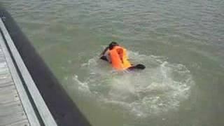 NPCC Sec 3 Survival Camp - Jetty Jump at Pulau Ubin