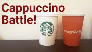 easyCoffee Cappuccino vs Starbucks Cappuccino