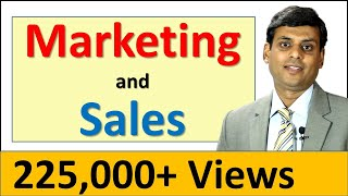 3. Difference between Marketing and Sales by Prof. Vijay Prakash Anand