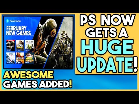 PS NOW Gets HUGE UPDATE! AWESOME PS4 and PS3 Games ADDED!