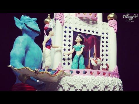 Декор торта из мультфильма Алладин