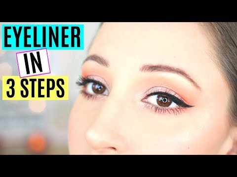 EYELINER TUTORIAL IN 3 STEPS | FOR BEGINNERS (on Hooded Eyes!)