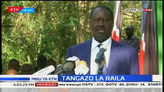 Raila Odinga reveals NASA's stand on the October 26th fresh presidential polls