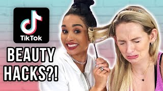 SURVIVING TikTok Beauty Hacks!! (Beauty Break)