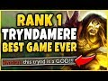 RANK 1 TRYNDAMERE 39 S GREATEST GAME OF HIS LIFE CHALLENGER 1V9 CARRY League of Legends