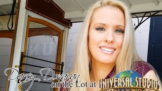 Darcy Donavan on the Back Lot at Universal Studios