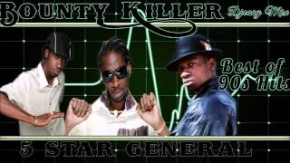 Bounty Killer (The 5 Star General) 90s Juggling  mix by djeasy