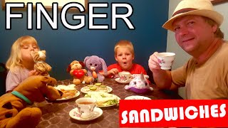 Finger Sandwiches [HOW TO MAKE FINGER SANDWICHES FOR A LITTLE GIRLS TEA PARTY]