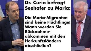 Frage an Innenminister Seehofer zu Moria