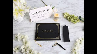 Funeral Guest Book, with Premium Pen Set, and Table Sign | White Dove Publications