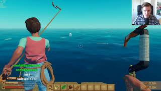 4 Idiots on a raft - Teo plays Raft co-op w/Paddy, Alex & Sammy