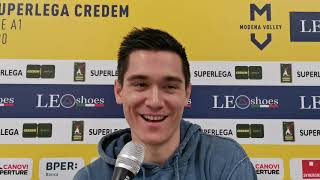 Modena Volley, Micah Christenson in vista del match contro Monza
