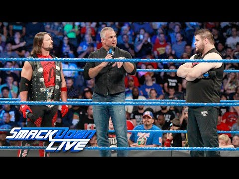shane mcmahon lays down the law to aj styles and kevin owens