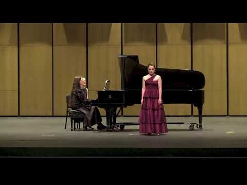 The Concerto for Coloratura Soprano and Orchestra by Gliere, from the Rosen-Schaffel Concerto Competition.