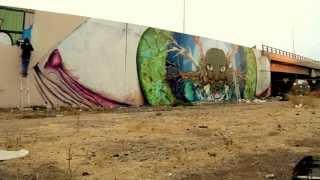 Stylo Sucio / Mural en Peñalolén (muro en proceso)