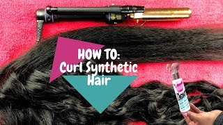 How To: Curl Synthetic Hair