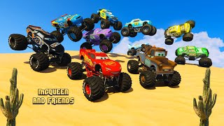 Race Cars in the Desert Monster Truck McQueen Mater Aiken Axler The King Chick Hicks and Friends