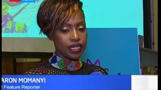 KTN 's Senior Features reporter Sharon Momanyi receives a special recognition