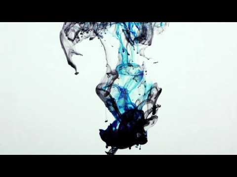 Abstract Colorful Blue Ink Paint Drops Splash in Underwater 31
