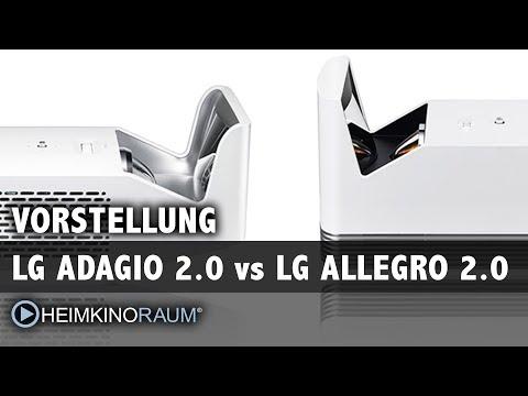 Vorstellung Ultrakurzdistanz Beamer LG Adagio 2.0 vs LG Allegro 2.0