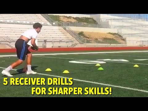5 WIDE RECEIVER DRILLS FOR SHARPER SKILLS! ROUTES AND ...