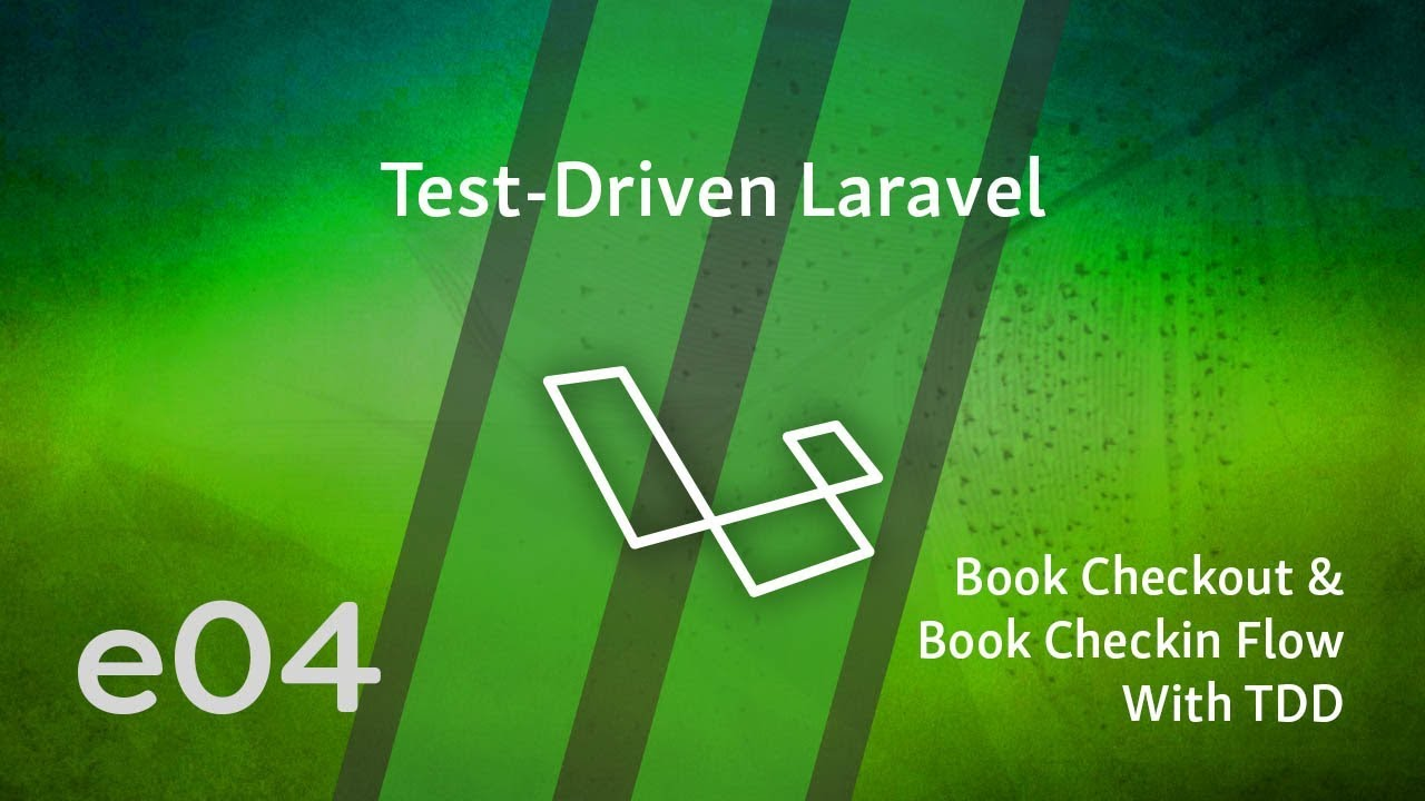 Cover image for the lesson by the title of Book Checkout & Book Checkin Flow With TDD