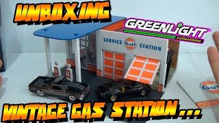 "UNBOXING - VINTAGE GAS STATION ""GULF"" GREENLIGHT 2017"