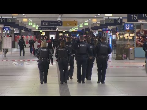 Seven injured in train station axe attack in Germany