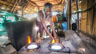 Coconut Shell Jet Flame!! INDIAN JUNGLE FOOD in Kozhikode!   Kerala, India!