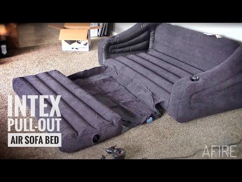 INTEX Pull-out Sofa Inflatable Queen Bed:  Review & Demo
