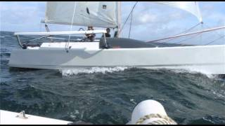 preview picture of video 'Julie's Journey - landlubber to sailor of Magnum & Astus trimarans'
