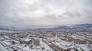 TIMELAPSE: Kelowna blanketed by snow in a matter of hours
