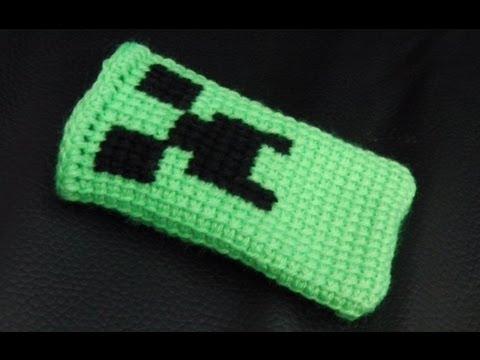 Minecraft Handy Socke Häkelanleitung