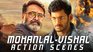 Mohanlal - Vishal Best Action Scenes | 2018 Latest Hindi Dubbed Fight Scenes