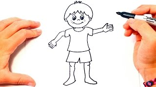 How to draw a Boy   Boy Drawing Lesson Step by Step