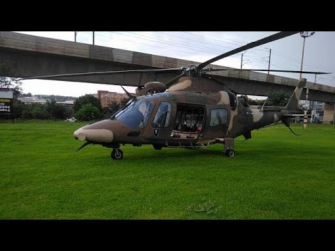Military chopper evacuates guests in flooded South African hotel