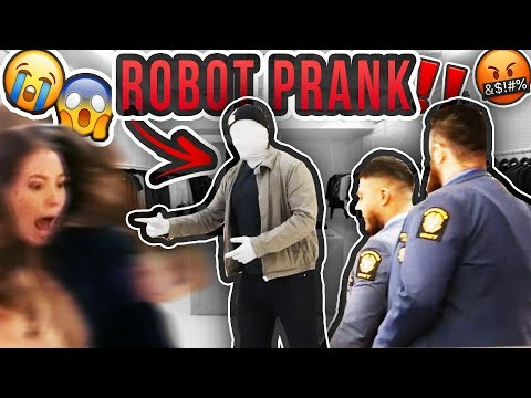 ROBOT SCARE PRANK! *HJÄRTATTACK*