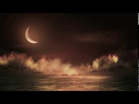 Футаж Ночное море