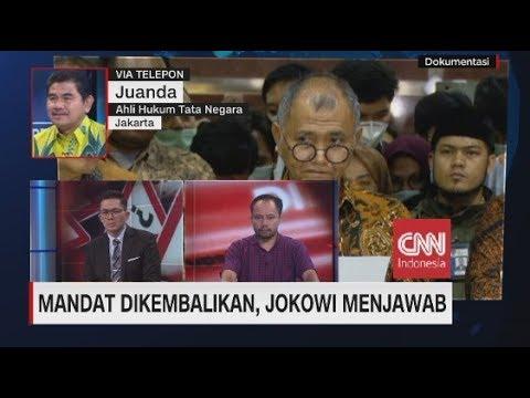 Mandat Dikembalikan, Jokowi Menjawab