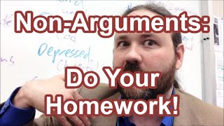 Non-Arguments: Do your homework (Burden of Proof fallacy)
