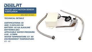 Faucet with Motion Sensor - 11.5x15.2x5cm
