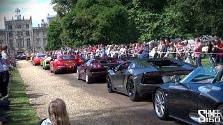 Wilton Supercar Parade - F1, Veyron, Enzo, Gumpert, F40, Amazing!