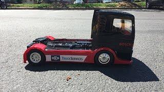 Tamiya 1/14 Team Hahn Racing MAN TGS 4WD Semi Truck Kit | Test Drive & Drifting | Review Footage