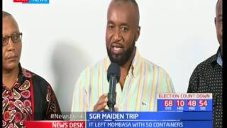Mombasa Governor Ali Hassan Joho is bitter with Jubilee for being barred from attending SGR launch